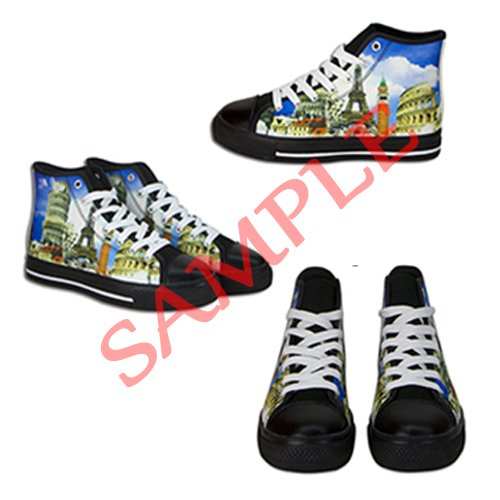 Dalliy Paisley Colored Print Men's Canvas Shoes Lace-up High-top Footwear Sneakers Chaussures de toile Baskets C