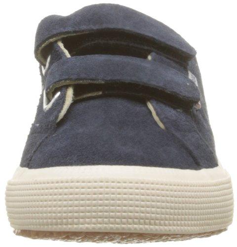 Superga 2750 Suej Velcro, Baskets mode mixte enfant Bleu (Blue 516)