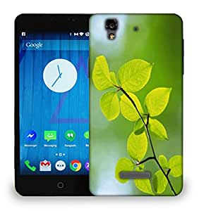 Snoogg Green Leaves Plants Printed Protective Phone Back Case Cover For Micromax Yu Yureka