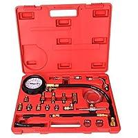 Ridgeyard Benzina e Diesel Fuel Injection Pressure Gauge Tester della benzina test strumento Meter Set 0-145psi