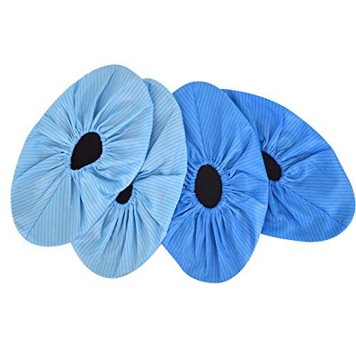 millya wiederverwendbar Anti-Rutsch Schuh Stiefel Abdeckung Wasserdicht Regen Schnee Überschuhe, 2Paar, blau