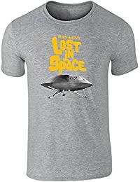 Pop Threads Lost in Space Topographical Logo Short Sleeve T-Shirt by
