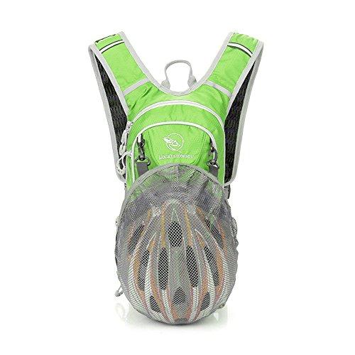 Radsport Rucksack, Leichter Fahrrad Rücksack Hydration, Kleiner Sportrucksack, Radfahren Rucksack Wasserdicht für männer frauen Jungs Mädchen,mit Reflektierende Streifen & Wärmedämmschicht,Grün -