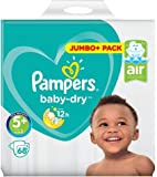 Pampers Baby Dry Size 5+ (13-27kg) Junior Plus Mega Box x 70 per pack