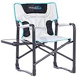 skandika outdoor Campingstuhl Deluxe mit Klapptisch Stuhl, Grau, XL