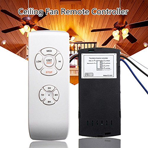 Ceiling Fan Remote Control and Receiver Kit, 110V/220V Timing Wireless  Control Replacement of Hampton Bay or Harbor Breeze Complete Replace Kit