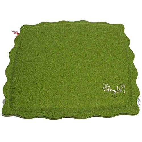 exclusive allgaeulilie Sitzauflage Stillach 9 A1 in Design-Wollfilz (grün)