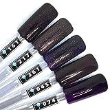Color Gel 5er Set (je 5ml): Pretty dark purple - Kollektion - Gel Dunkellila, Gel Lila