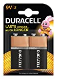 Duracell Alkaline 9V Battery with Duralock Technology - 2 Pieces