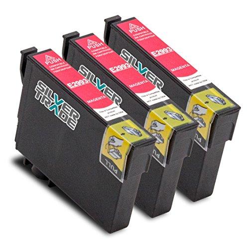 Preisvergleich Produktbild 3er Set Tintenpatronen kompatibel zu Epson T2993 Magenta mit Chip für EPSON Expression Home XP-235 / XP-330 Series / XP-332 / XP-335 / XP-430 Series / XP-432 / XP-435