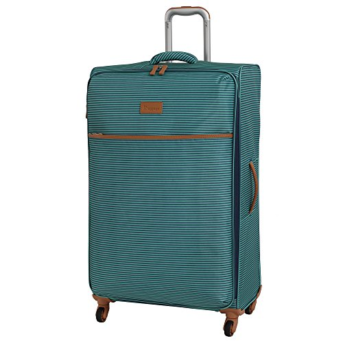 it luggage Beach-Stripes 4 Wheel Lightweight Semi Expander Suitcase Large with TSA Lock Koffer, 80 cm, 127 liters, Mehrfarbig (Teal Stripes)
