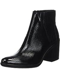 Calvin Klein Damen Volise Crinkle Patent Chelsea Boots