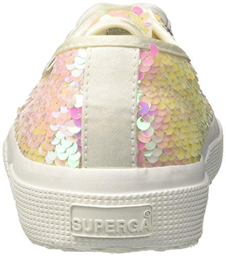 Superga Damen 2750 Pairidescentw Sneaker White (White Iridescent)