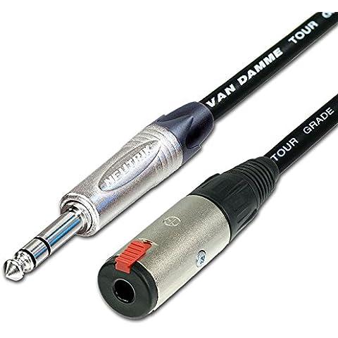 Designacable NP3X-VDMIBK0500-NJ3FC6C - Cable para micrófonos jack (cable de extensión, balanceado, macho/hembra, 5 m), color