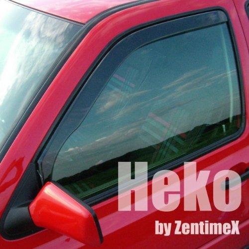 Preisvergleich Produktbild ZentimeX Z901774 Windabweiser Regenabweiser Acrylglas dunkelgrau für VORNE