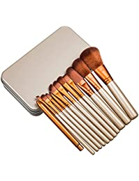 kingcoo® Kabuki estilo de moda profesional pinceles de maquillaje cosmético Fundación maquillaje Face Powder Kit Herramienta con carcasa de metal dorado