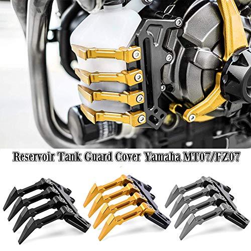 FATExpress Motorrad Aluminium Wasser Kühlmittelbehälter Tankschutzhaube für 2014-2018 Yamaha FZ-07 MT-07 FZ07 MT07 FZ MT 07 2015 2016 14-18 (Gold)