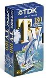 TDK T14565 Hochwertige VHS Videokassette TV-180 (2 Stück) 180 Minuten