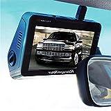 """su Car Dash Camera SUV Van Truck Dash Cam Anteriore e Posteriore Doppia Fotocamera Schermo LCD da 4.3""""DVR Registratore di Guida con G-Sensor Registrazione Loop Rilevamento Movimento"""
