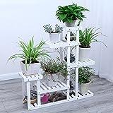 ZHANWEI Gartenregal Blumenregal Aus Holz Multilayer Multifunktional Stand-Stehen Entfernbar Versammlung Indoor/Outdoor, 2 Farben, 25 * 92 * 102 cm (Farbe : Weiß, größe : #2)