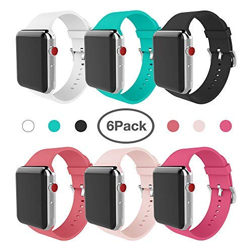 For Apple Watch Band 38Mm Soft Silicone Band For Apple Watch Series 3 Series 2 Series 1