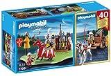 Playmobil Caballeros - Compact set aniversario: torneo medieval y carreta con cañón (5168)