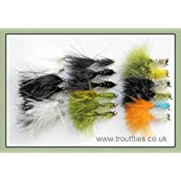 Trout Flies, Lures, 18 Pack, Cats Whiskers, Damsels, Humongous, Size 10, Fishing