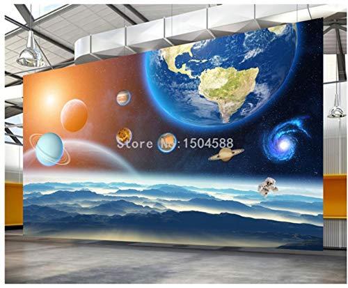 JHFVB 3D Stereo Planet Universe Star Mural Mural de Dibujos Animados para niños de Fondo de Papel Tapiz de decoración, 200 * 140 cm