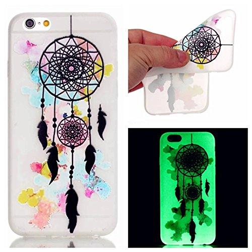 kshop-premium-accessory-set-for-iphone-6-6s-case-ultra-slim-transparent-cover-with-night-luminous-ef