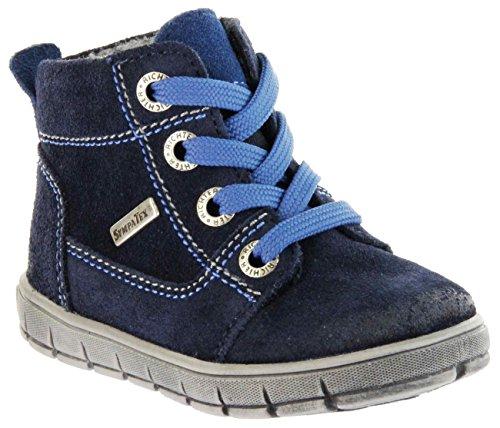 Richter Kinder Lauflerner Blau Velourleder Sympatex Warm Jungen Schuhe 1123-831-7201 Atlantic Info S, Farbe:Blau, Größe:21