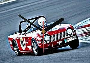CC352 Triumph Tr4 ORIGINAL WALL CLOCK HORLOGE MURALE 20X15CM