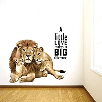 Rawpockets 'Animal Love Quotes' Wall Sticker (PVC Vinyl, 0.99 cm x 55 cm x 60 cm, Multicolour)