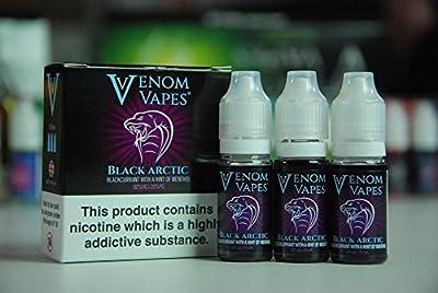 Venom Vapes schwarz Arctic E flüssig 30ml 3mg von Venom vapes