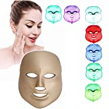 ZRYstore 7 color LED máscara fotón luz rejuvenecimiento piel blanqueamiento facial belleza diaria cuidado de la piel máscara