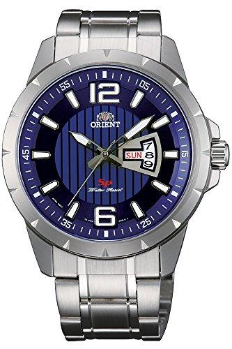 Orient Reloj Analógico para Hombre de Cuarzo con Correa en Acero Inoxidable FUG1X004D9