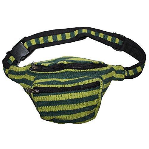 Freak Scene® Tasche ° Gürteltasche ° Bob ° gestreift ° Bauchtasche ° Hüfttasche, alle Farben!!! hell grün-dunkel grün