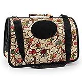 Eeayyygch Oxford-Tuch-Haustier-Rucksack-Hundeschlitten-Schulter-Tasche heraus Tragbarer Beutel Multi-Muster Haustier-Tasche, L-S (Farbe : H-M, Größe : -)