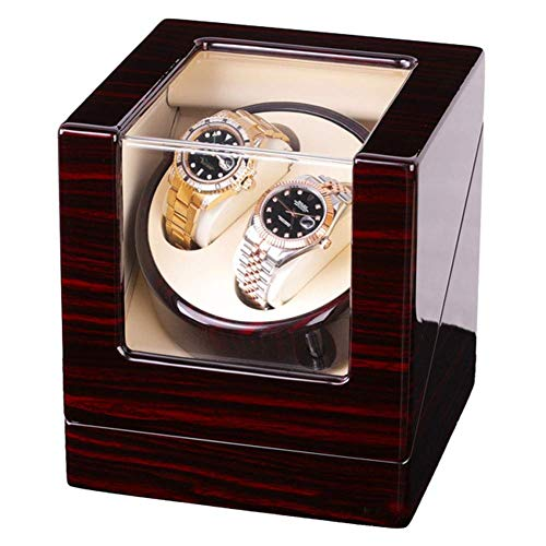 HYLH Automatic Wooden Watch Winder with Mabuchi Motors, AC Or Battery Powered,Storages Boxes (Mabuchi Winder Motor)