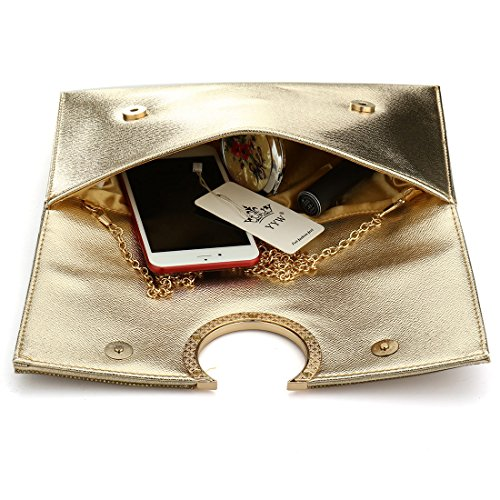 HT Party Handbag, Poschette giorno donna Gold