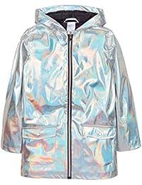 5f1b4aba8 The Pyjama Party Baby Girls Holographic Silver Jacket Showerproof Rain Coat  Mac Baby Girls Teen