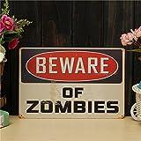 Bargain World Zombies del metal de hoja dibujo pintura metal pared lata vintage cartel casa muestra