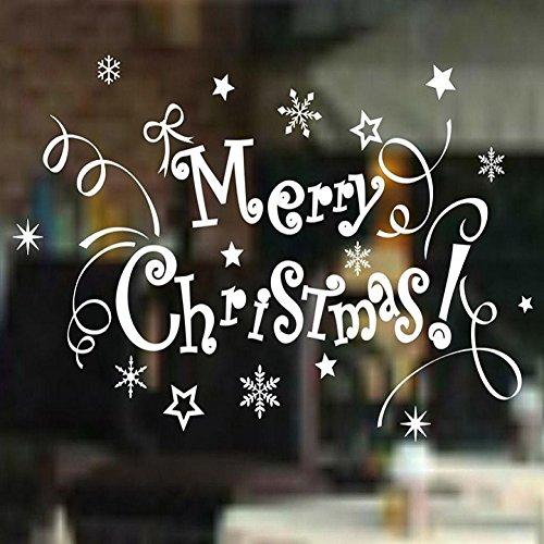 Vovotrade autoadesivo della parete di Buon Natale Alfabeto Vinile dell'albero vetrofanie Decor - Gattino Albero