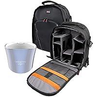 Duragadget Sac à Dos de Transport Noir pour Creative iRoar Go, iRoar, Muvo 2 & 2c, Woof 3 Enceintes Portables + Couverture Anti-Pluie