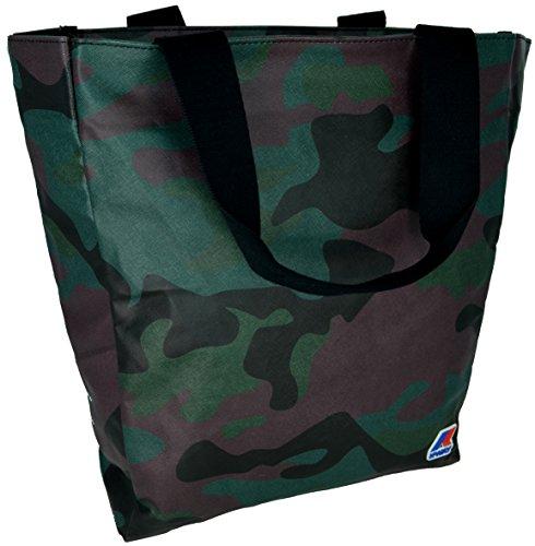 Borsa Shopping Donna K-Way Bag Woman K-Camouflage N/S Shopper K1A01-Camouflage