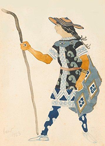 Designer Kostüm Russisch - Vintage Style &LEON BAKST KostüM-Design für Eine Velt Phaedre, in Russland, Nachbildung Vom Künstler, 250 G/M ², Glänzend, A3, Vervielfältigtes Poster