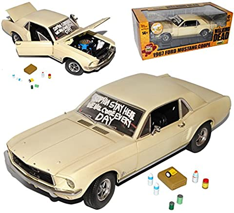 Ford Mustang Coupe Beige The Walking Dead 1967 1/18 Greenlight Modell Auto