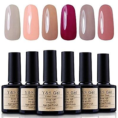 Y&S Pick Any 6 Colours Soak Off Gel Nail Polish UV LED Manicure Varnish Nail Starter Kits 10ml each