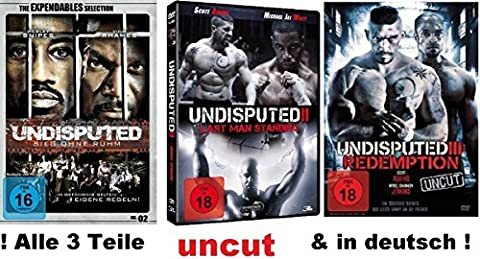 Undisputed 1-3 dvd Set, uncut I, II, III, Sieg ohn Ruhm, Redemption, Last man Standing 1,2,3, FSK (Collection 4 Dvd-set)
