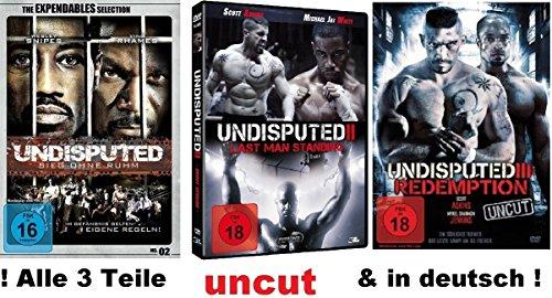 Undisputed 1-3 dvd Set, uncut I, II, III, Sieg ohn Ruhm, Redemption, Last man Standing 1,2,3, FSK 18