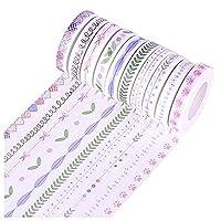 Carry stone 10Pcs/set 8mmx10m fresh style japanese Heart washi tape for decoration And Useful